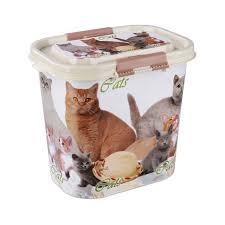 """Контейнер """"Cats"""" для корма 10л (овальный)М5395 Альтернатива, арт.: 539555"""